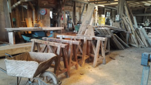 Inside Marans wood yard