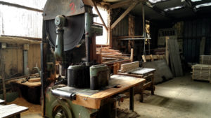 Old woodworking machines French sawmill