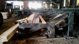 French sawmill with woodworking machines