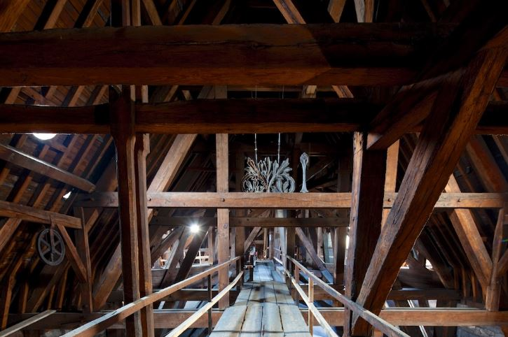 Notre Dame oak beam roof structure