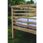 Bespoke oak garden seat