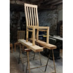 High back dining chair handmade