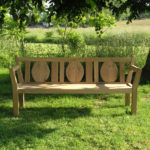 Toulouse oak garden bench