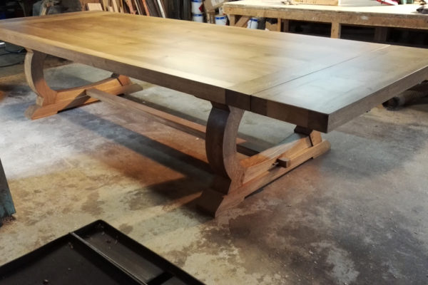 Large oak dining tables by Makers