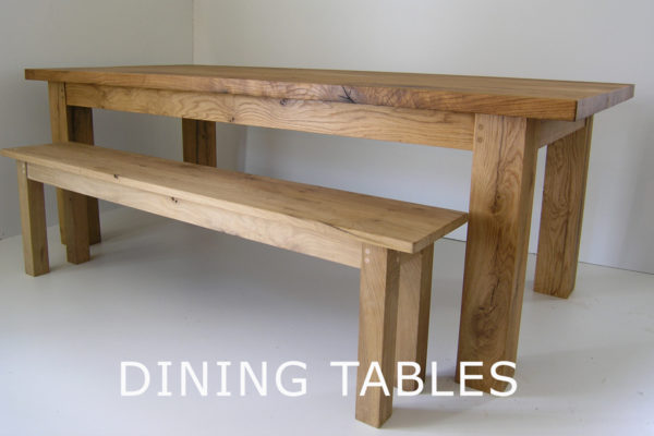 Bespoke handmade oak dining tables