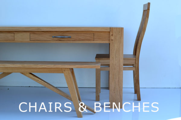 Handmade chairs and bespoke bench