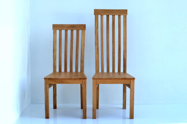 Oak high back dining chairs