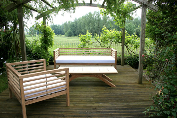 Bespoke garden bench and chair