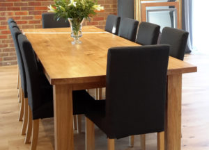 Bespoke oak table