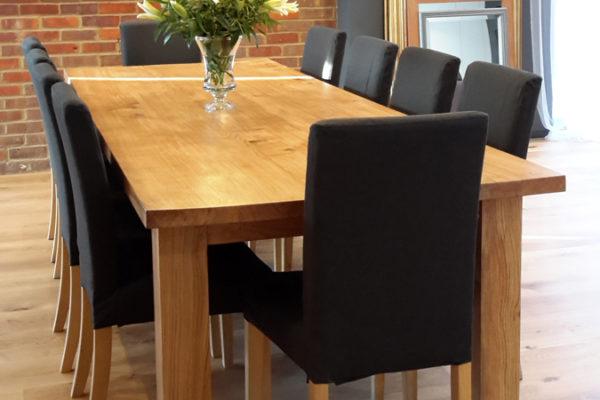 Bespoke oak table