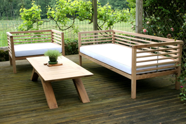 Bespoke garden furniture sofa and chair
