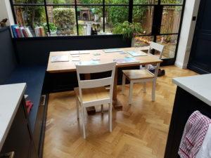 Oak table in a London kitchen