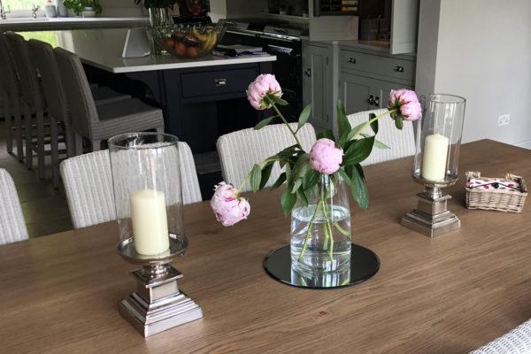 Solid oak bespoke refectory table
