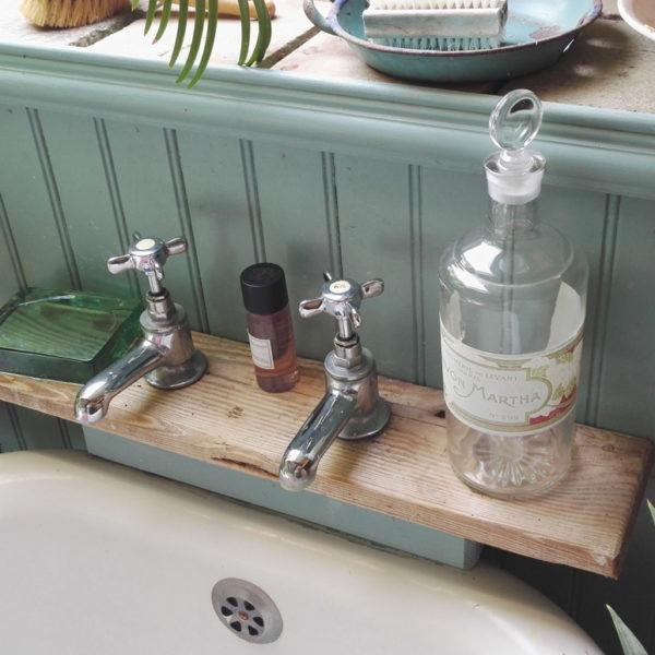 Scrap oak bath shelf