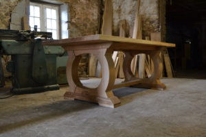 Bespoke refectory table 6 seat