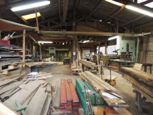 Bespoke table maker at the wood yard