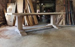 Bespoke 10 seat pedestal refectory table