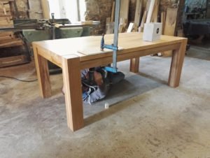 Scale drawing for handmade oak dining table