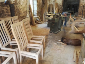 Chair making in the workshop