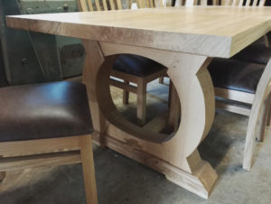Bespoke curved base refectory table