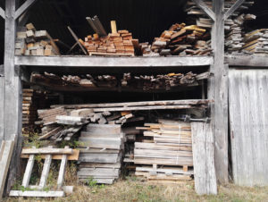 Wood store at Marans scierie