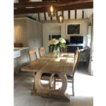 Refectory oak kitchen table