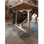Modern rustic campaign table