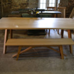 8 seat modern oak dining table