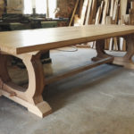 Kitchen oak table finished with osmo oil