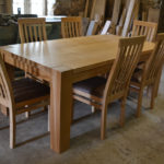 Dining table for 8 with handmade chairs