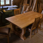 Bespoke dining chairs with refectory table