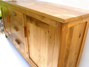 Bespoke oak sideboard france