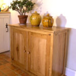 Bespoke oak sideboard with two doors