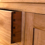 Oak sideboard drawer detail