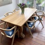 6 seat refectory table and chairs
