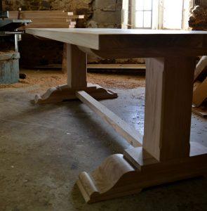 Bespoke French oak table