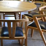 Bespoke round table with six dining chairs