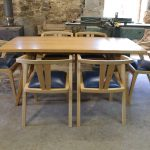 Chiswick table and zen dining chairs