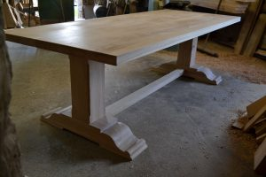 Bespoke table finished with osmo oil raw