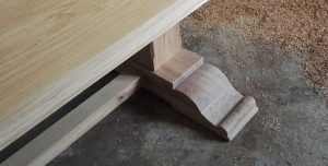 Yorkshire kitchen table with scrolled feet