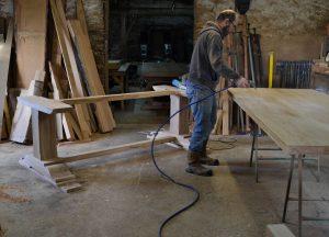 French oak refectory table in progress