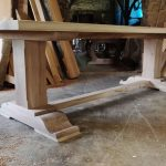 Refectory table with pillar legs