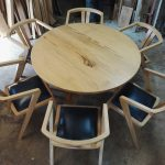 Round table with 6 dining chairs
