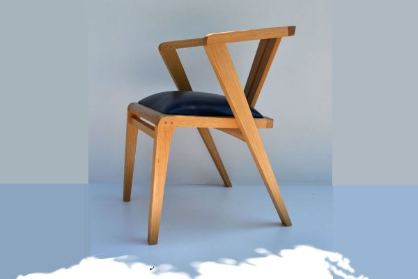 Oak zen dining chair france