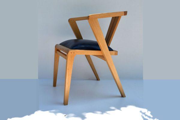Oak zen dining chair france