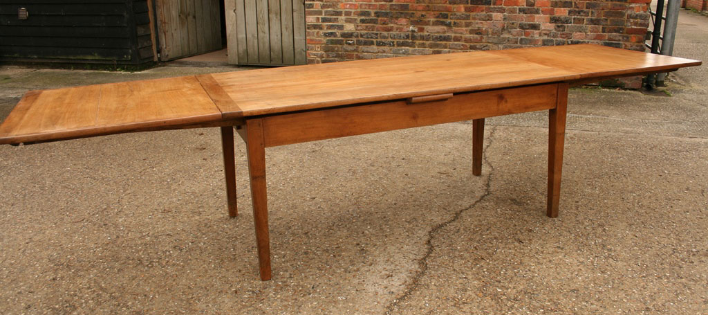 19th century double draw leaf table