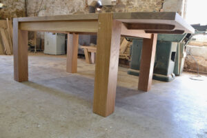 Bespoke dining table with extension