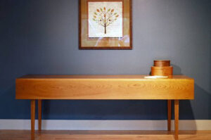 Console table with side drop leaves
