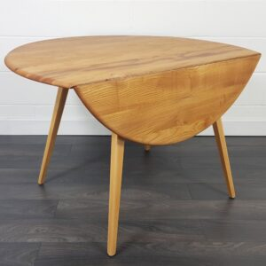 Ercol round drop leaf table circa 1960