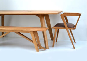 Chiswick oak kitchen table by Makers Bespoke Furniture